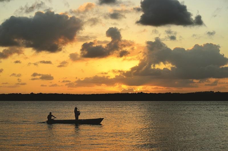 Pôr do sol na praia do Jacaré  Foto por Cacio Murilo