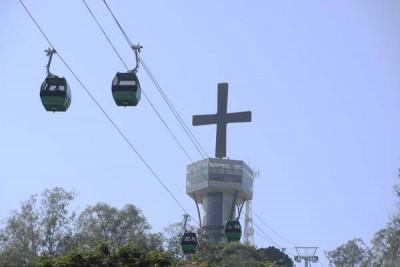 O Morro do Cruzeiro é outro ponto atrativo de Aparecida. O mirante oferece visão panorâmica da cidade e região.
