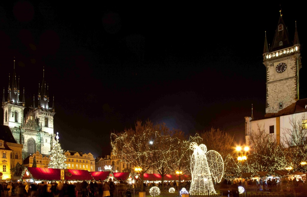 Preaga iluminada no Natal