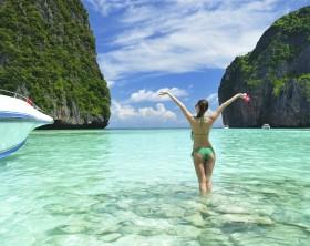 "Ilhas Phi Phi, onde o filme ""A Praia"" foi filmado"