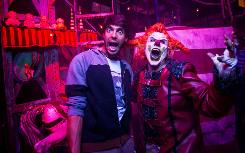 "World famous soccer star Ricardo Kaká received a horrifying ""murderous"" welcome to Halloween Horror Nights 25 at Universal Orlando Resort on Thursday, October 22. The World Cup champion came face to face with this year's ringmaster, Jack the Clown, before enjoying the event's disturbingly-real haunted houses and scarezones. Kaká is the recipient of the prestigious Ballon d'Or award and currently plays in the MLS.Select nights through Nov. 1, guests can visit Universal Orlando's theme parks by day and become victims of their own horror film by night at Halloween Horror Nights."