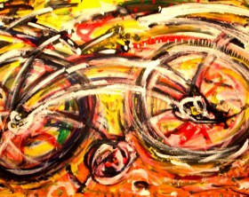 Black Bike 2011 90x160cm