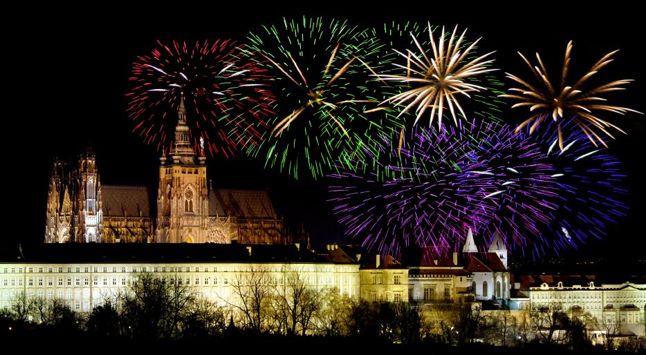 Ano Novo em Praga