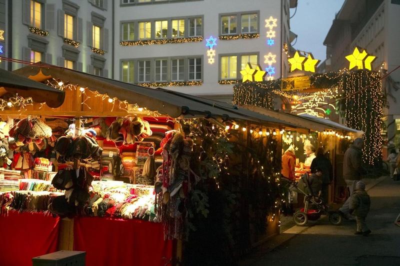 Mercado natalino em Lucerna