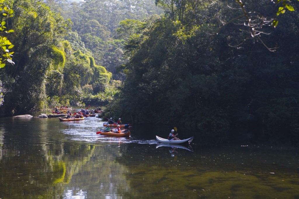 Parque das Neblinas_Canoagem no Rio Itatinga