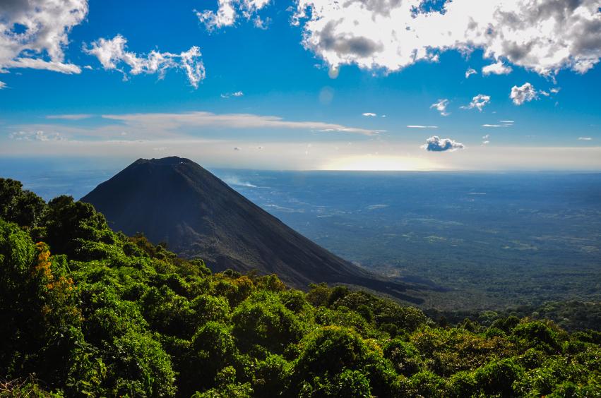 Izalco Volcano from Cerro Verde National Park, El Salvador.