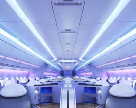 cabine do A350 XWB