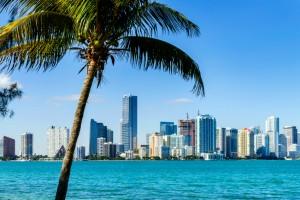 Miami Downtown skyline  Foto por ventdusud via IStock