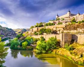 Toledo, Spain old town skyline.