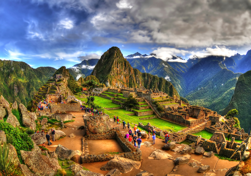 The Machu Picchu in HDR - amazing magical special picture