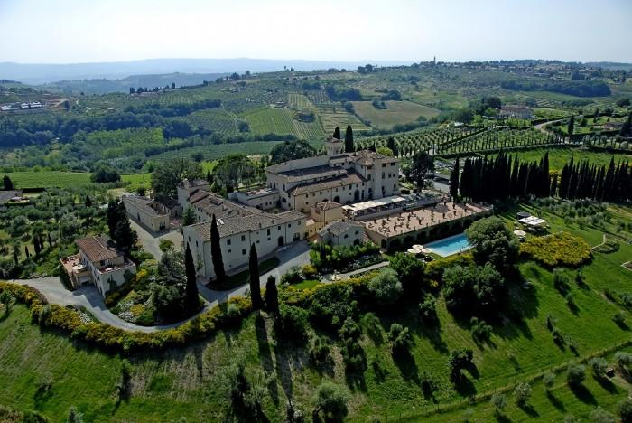 Castello del Nero - Vista aérea