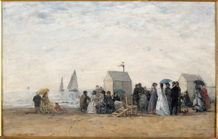La Plage de Trouville, 1867. Paris, musée d'Orsay - © Photo RMN-Grand Palais