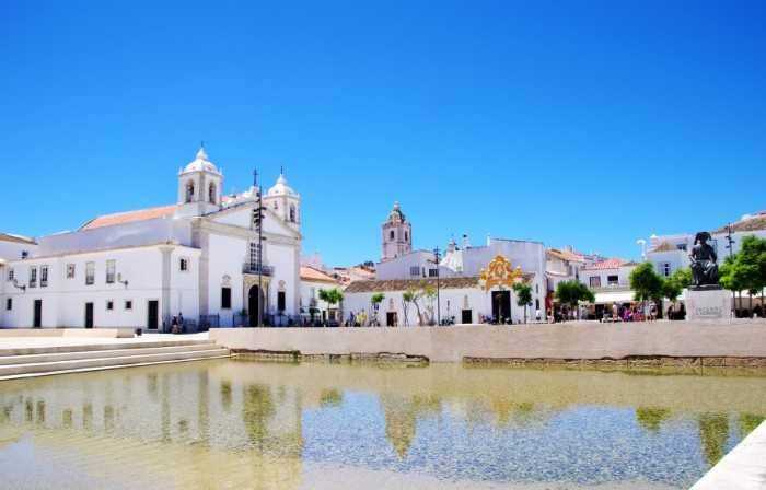 Square of Lagos city in Algarve, Portugal