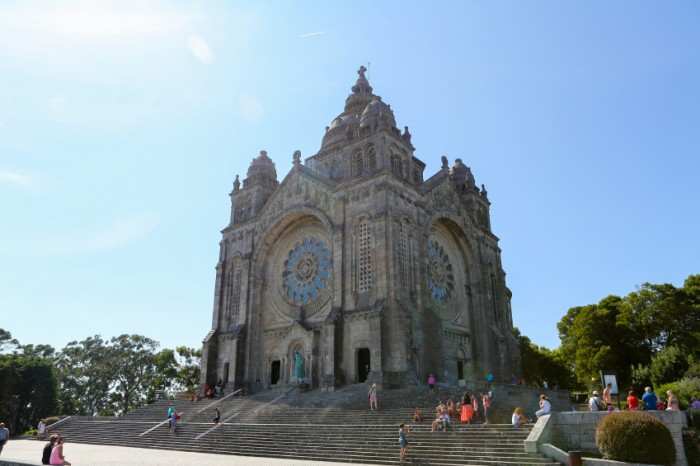 VIANA DO CASTELO, PORTUGAL - AUGUST 4, 2014: Santa Luzia church in Viana do Castelo, Norte region, Portugal.