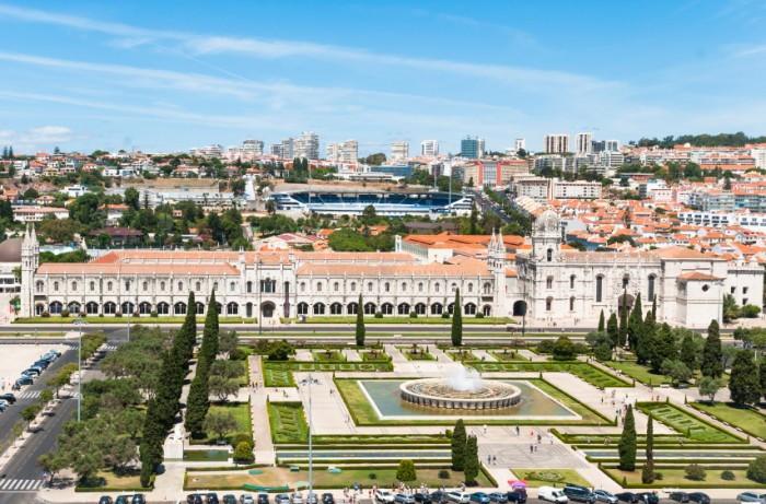 View of Jeronimos Monastery in Lisbon