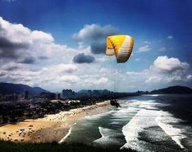 Vista com Parapente - Guarujá - Eliria Buso