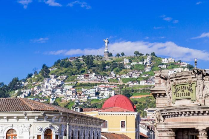 Sculpture of the Virgin in Panecillo hill Quito Ecuador South America