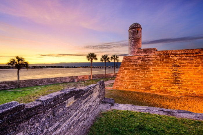 St. Augustine, Florida at the Castillo de San Marcos National Monument.
