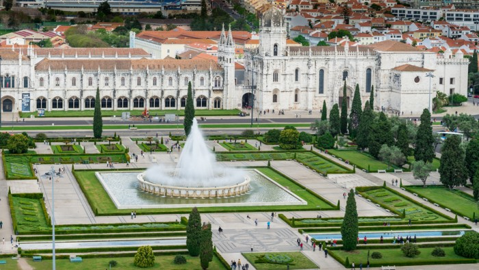 Hieronymites Monastery in Belem, Lisbon, Portugal.