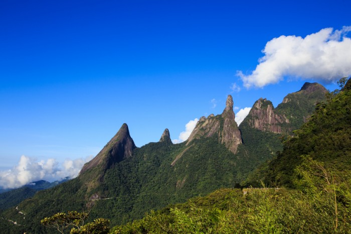 famous peaks of national park Serra dos Orgaos, Brazil