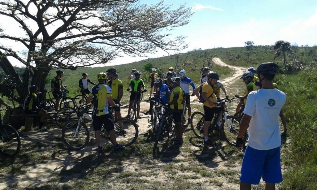 Ciclistas no PE Juquery - Foto Divulgação FF