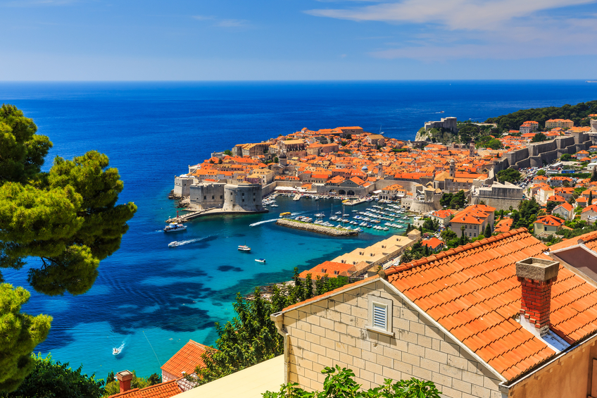 Vista panorâmica da cidade de Dubrovnik, Croácia.