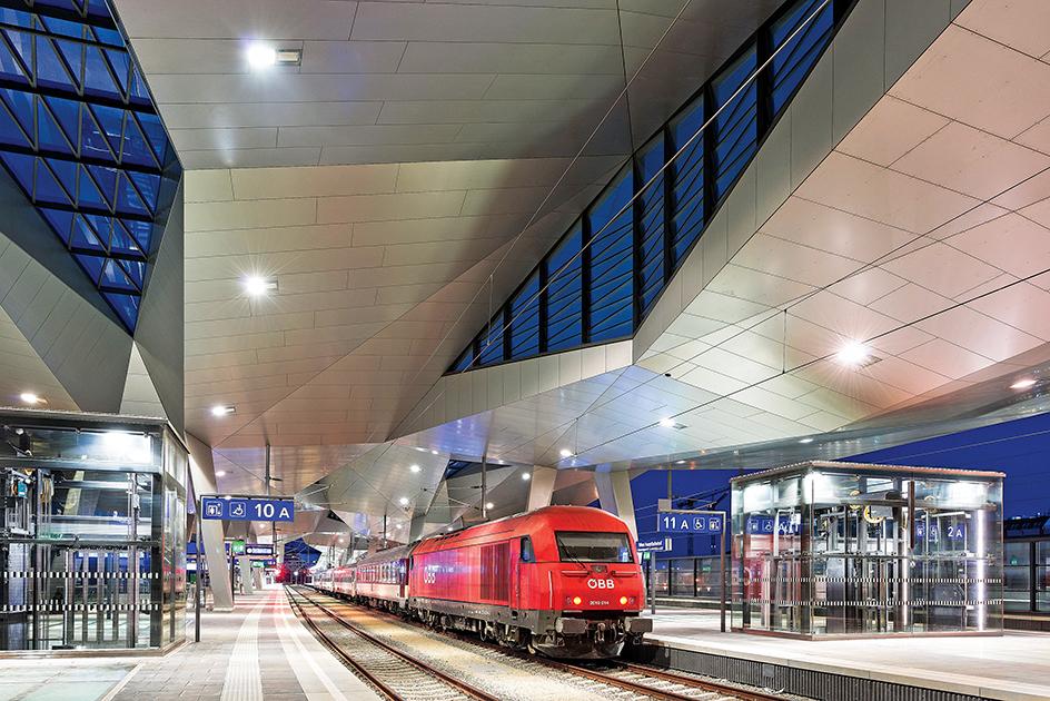 Austria / Vienna / Hauptbahnhof Wien, Verkehrsstation am 15.04.2013