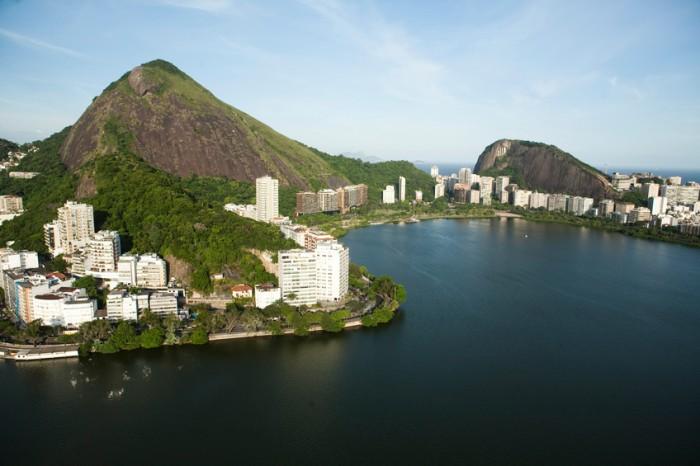 aerial view of Lagoa Rodrigo de Freitas