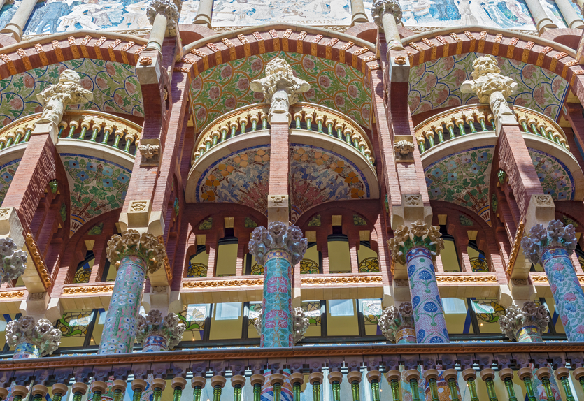 Palace of Catalan Music is a concert hall in Barcelona, Spain. Designed in the Catalan modernista style by the architect Llu??s Dom??nech i Montaner, it was built between 1905 and 1908.