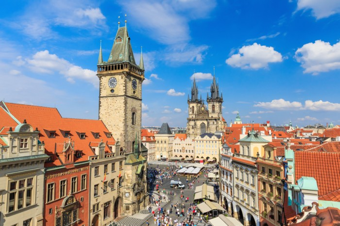 Prague Tyn Cathedral & Clock Tower, Czech Republic