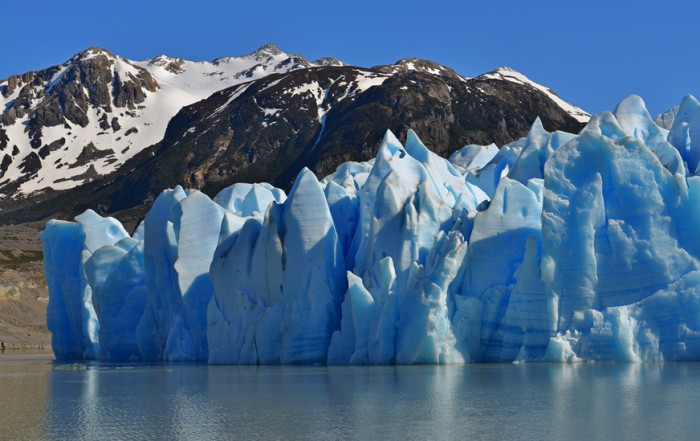 The Grey glacier in Torres del Paine National Park, Chile.