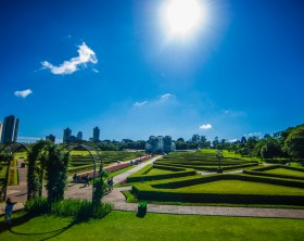 Botanical garden in the city of Curitiba in Parana state in Brazil