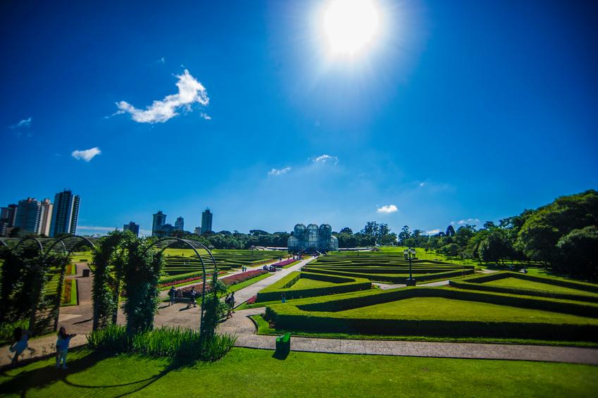 Botanical garden in the city of Curitiba in Parana state in Brazil