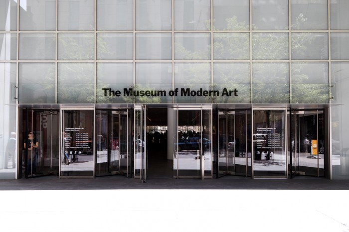 New York City, New York, USA - May 27, 2013: Entrance of Museum of Modern Art in Manhattan. The MoMA was founded in 1929.