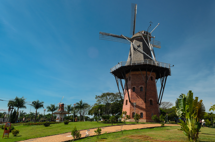 A windmill located in Holambra city , Brazil