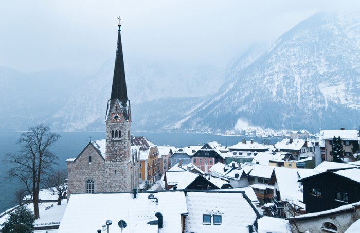 The famous and historical UNESCO heritage site of Hallstatt was founded in the late roman iron time and is a travel destination for millions of tourists.