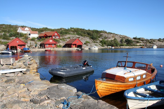 Norway - island Skjernoya in the region of Vest-Agder. Small fishing town - Dyrstad (also known as Dyrestad).