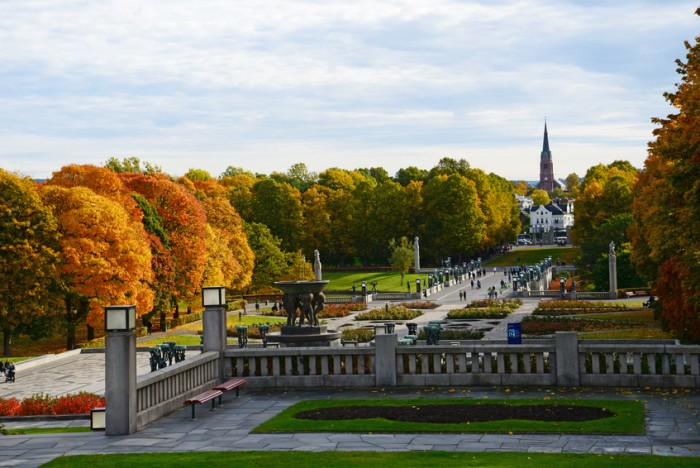 Vigeland Park in Oslo, Norway during Autumn
