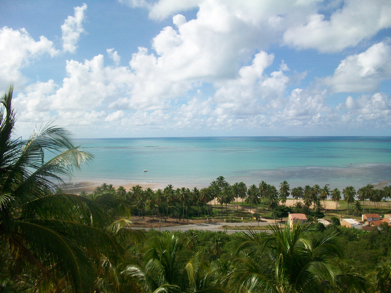 The beach of Maragogi, Alagoas, Brazil
