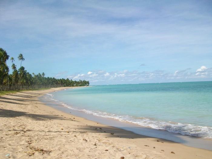 Patacho beach, considered one of the most beautiful beaches in Brazil, near Maragogi, Alagoas, Brazil
