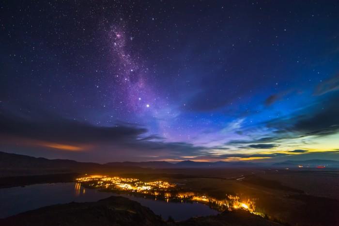 Die Milchstra?e kurz nach Sonnenuntergang ?ber Lake Tekapo. S?dinsel/Neuseeland