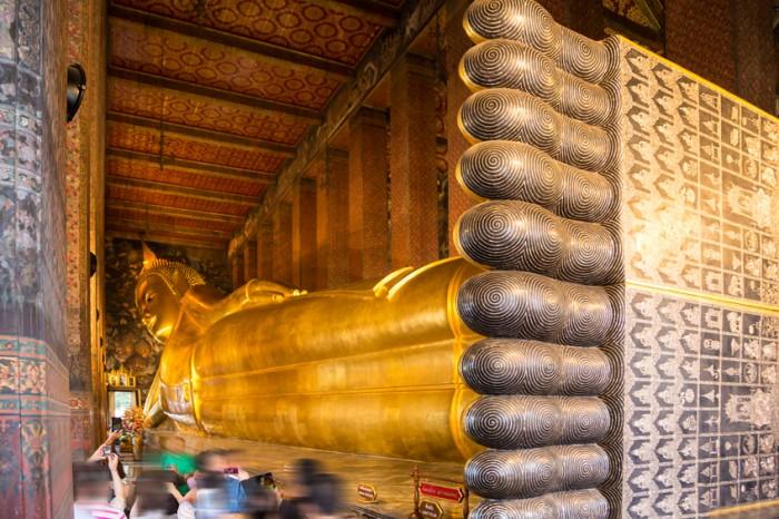 Reclining Buddha in temple of the reclining buddha, Bangkok