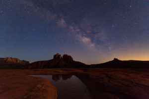 the milky way sits over cathedral rock sedona arizona