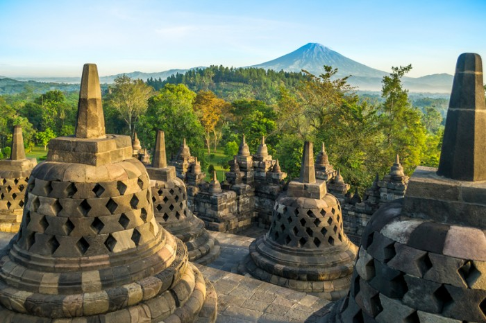 Morning at Borobudur, Java, Indonesia