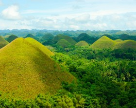 Chocolate Hills on the island of Bohol, Philippines