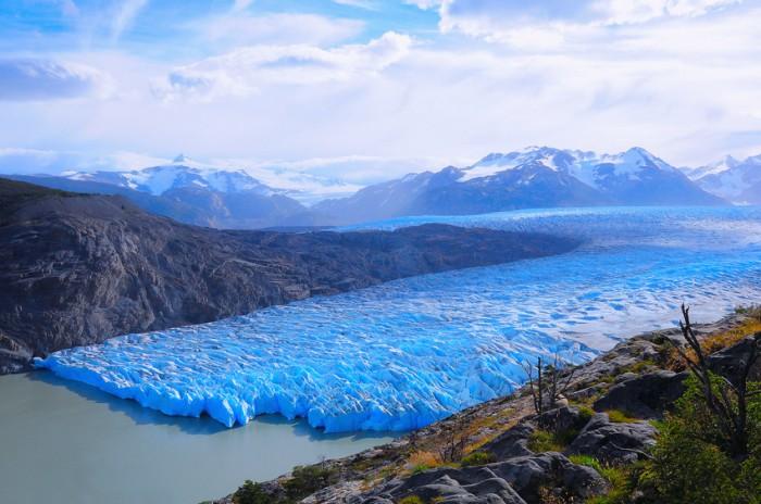 Grey glacier. Torres del Paine National park. Chile.