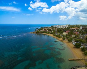 Photograph taken with a drone in Dorado Beach, Puerto Rico.