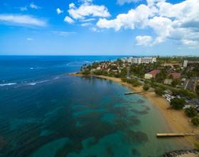 Photograph taken with a drone in Dorado Beach, Puerto Rico.