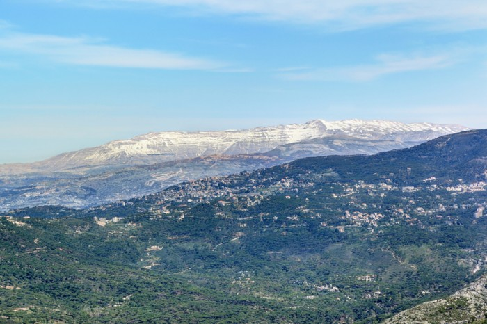 Mount Sannine with snow in Lebanon