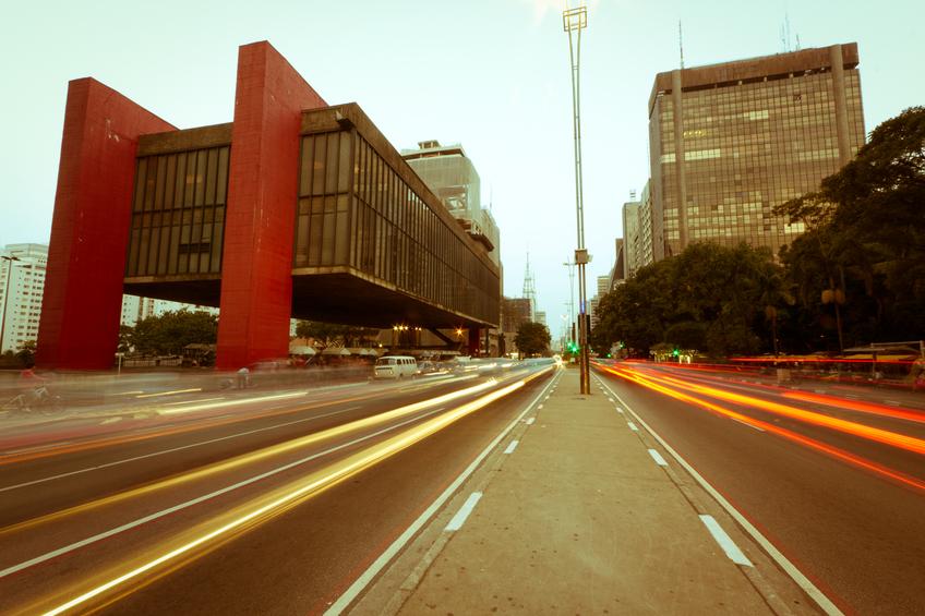 Paulista Avenue, São Paulo-Brazil. Vintage Photography